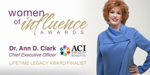ACI CEO Dr. Ann Clark Selected as Lifetime Legacy Award Finalist