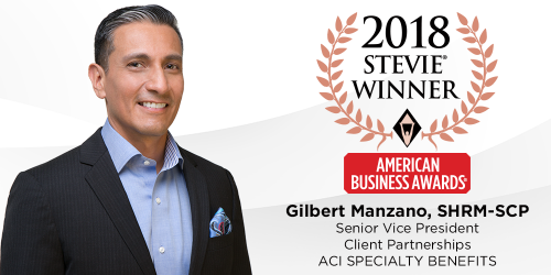 ACI's Gil Manzano Honored as 2018 Stevie Award Winner