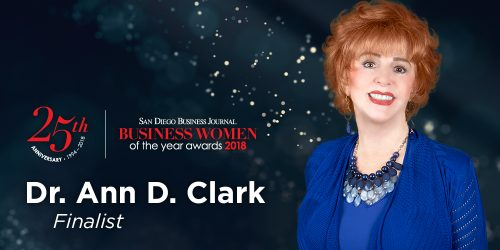 Dr. Ann Clark Named SDBJ Business Women of the Year Finalist