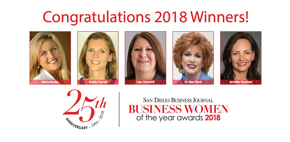 SDBJ Congratulates Dr. Ann Clark on Business Women of the Year Award